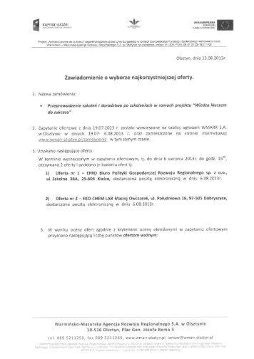 pliku. - Warmińsko-Mazurska Agencja Rozwoju Regionalnego SA