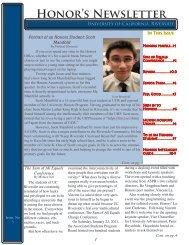Honor's Newsletter - University Honors - University of California ...