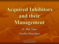 Acquired Inhibitors and their Management