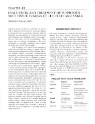 the Foot and Ankle - The Podiatry Institute