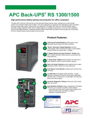 apc back-ups rs 1300/1500 - pts data center solutions