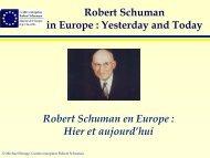 Robert Schuman en Europe - Ars Europa