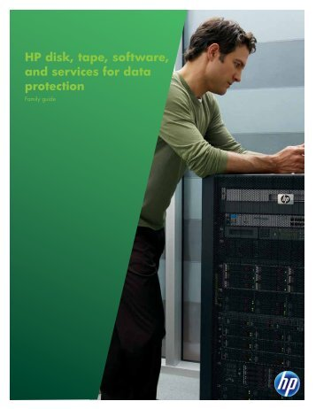 HP disk, tape, software, and services for data protection