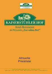 Unsere Zimmer-Preisliste (PDF ca. 800 KB) - Kaiserstuehler Hof ...