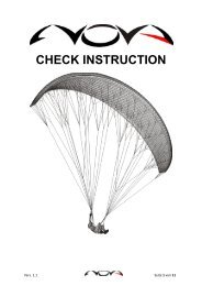 CHECK INSTRUCTION - Nova Paragliding