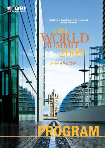 London 6 May 2009 - Global Real Estate Institute