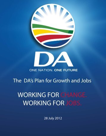 DA's Plan for Growth and Jobs - Democratic Alliance