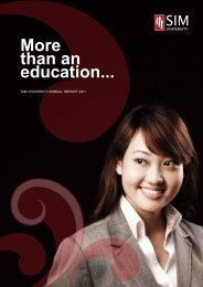 Download Ann​ual Report 2011 (PDF) - SIM University