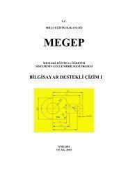 MEGEP - Bilgisayar Destekli Çizim