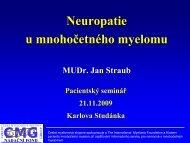 Neuropatie u mnohočetného myelomu, případy a léčba