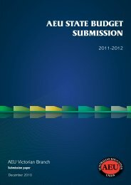 State budget submission, 2011 - Australian Education Union ...