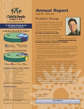 2006 Annual Report - Child & Family Service
