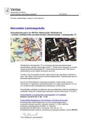 Osallistumis- ja arviointisuunnitelma 18.7.2012 - Vantaan kaupunki