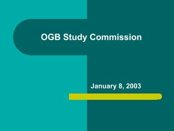 OGB Study Commission - Office of Group Benefits