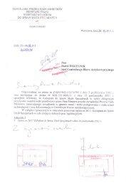 KANCELARIA PREZESA RADY MINISTRÓW SEKRETARZ ... - CBA