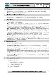 Risk Register Procedure - West Coast District Health Board