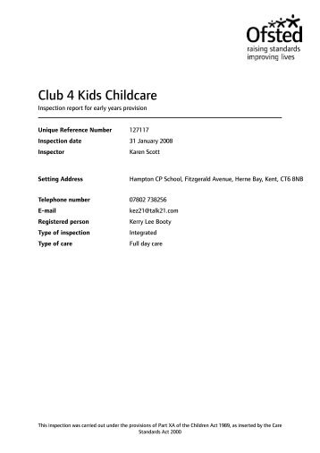 pdf Care inspection report - Ofsted