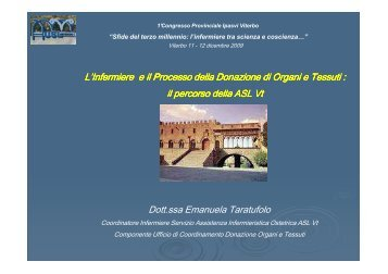 L'Infermiere e il Processo della Donazione di ... - IPASVI Viterbo