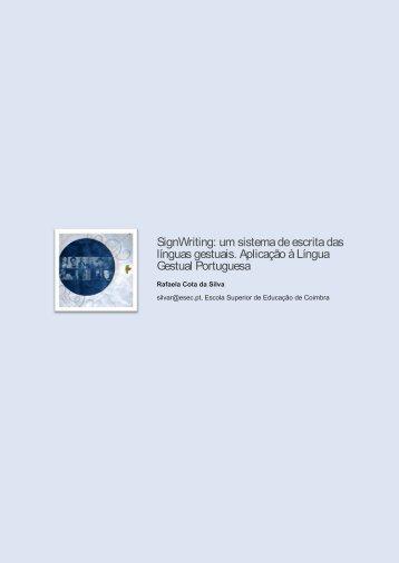 SignWriting: um sistema de escrita das línguas gestuais ... - Exedra