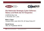 Beer-Talk # 3 - Swiss National Cyber Defense ... - Compass Security