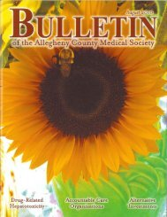 August 2010 Bulletin - Allegheny County Medical Society