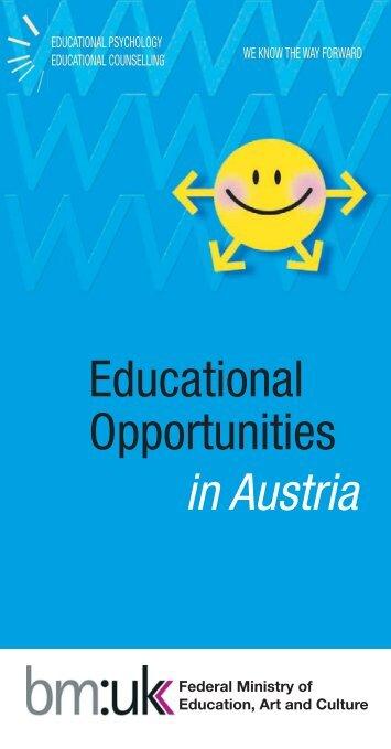 Educational Opportunities in Austria