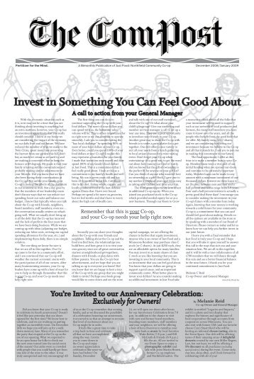Invest in Something You Can Feel Good About - Just Food Co-op