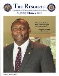 June 2012 Newsletter - Mississippi Department of Corrections