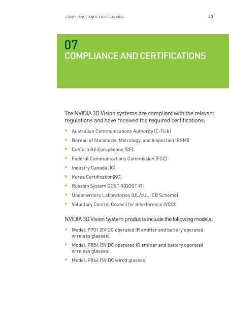 Compliance and Certificat