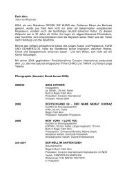 Fatih Akin Autor und Regisseur 2004, als sein Melodram ... - La Gente