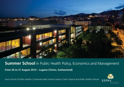 Summer School in Public Health Policy, Economics and ... - IUMSP