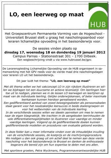Meer info - Hogeschool-Universiteit Brussel