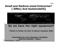 Small and Medium-sized Enterprise* ( SMEs) And ... - Pollution Probe