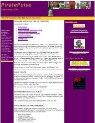 Enews September 2004 - East Carolina Alumni Association