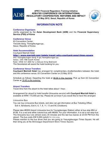 INFORMATION NOTE - Asian Development Bank