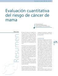 Evaluación cuantitativa del riesgo de cáncer de mama