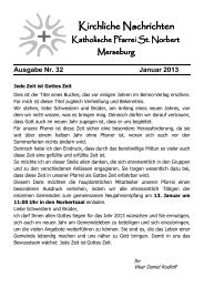 Ausgabe Nr. 32, Januar 2013 - Katholische Pfarrei St. Norbert ...