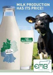 Brochure on production costs - European Milk Board