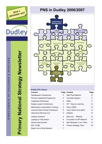 PNS Newsletter 2006-7 - Dudley Virtual Resource Centre