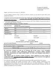 Modulo d'iscrizione e informazioni scuola primaria - Comune di ...