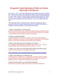 Frequently asked questions on Carbon Monoxide (CO) Detectors ...