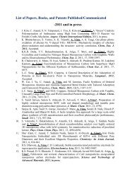 List of Papers, Books, and Patents Published/Communicated -2011 ...
