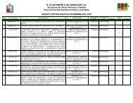 Obras Contratadas (a Noviembre 2010) - Municipio de Guadalupe