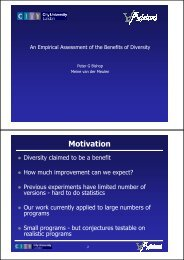 Empirical Assessment of the Benefits of Diversity