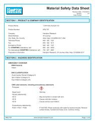 MSDS for HR2-757 - Hampton Research