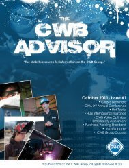 October 2011- Issue #1 - CWB Group