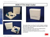 8686 FTTH Wall Outlet - 3M