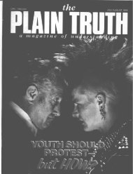 July-August, 1985 Plain Truth - Hearts of the Fathers