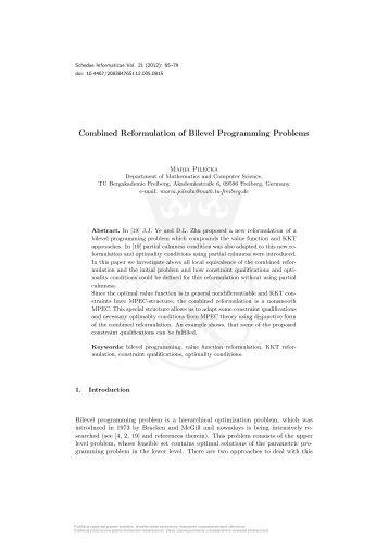 Combined Reformulation of Bilevel Programming Problems
