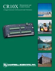 CR10X Measurement and Control System Brochure - Campbell ...